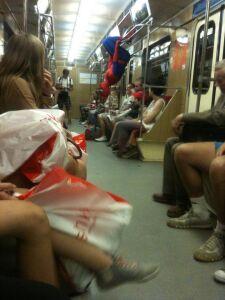Spider-Man w warszawskim metrze