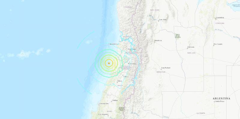 Lokalizacja trzęsienia ziemi (USGS)