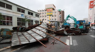 Tajfun Haishen niesie zniszczenie