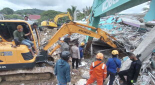 Trzęsienie ziemi na wyspie Celebes (PAP/EPA/BASARNAS/HANDOUT)