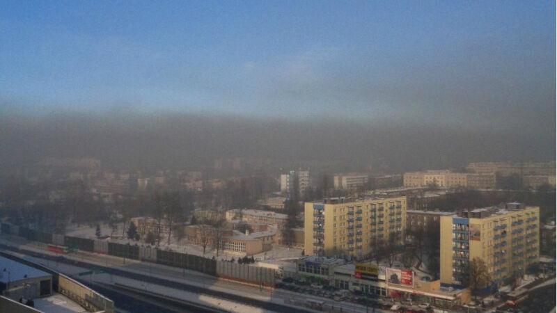 Smog w Katowicach widać gołym okiem