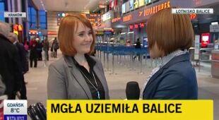 Zamknięte lotnisko Kraków - Balice (TVN24)